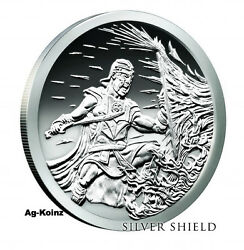5 Oz 2017 Crucible Proof With Airtite Coa And Box Silver Shield 500 Only 5oz 999