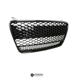 Fit For 07-12 R8 Mk1 Car Grille Grill Insert Front End Glossy Blacked Out