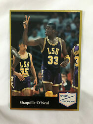 Shaquille Oneal Rookie 1991 Gold Lsu College Sports Educational Basketball Card