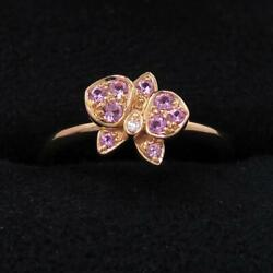 Ring Caresse Dand039orchid K18pg Pink Sapphire 49 Us Size 5 053004