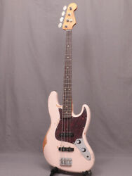 New Fender Flea Jazz Bass Road Worn Faded Shell Pink Electric Guitar From Japan