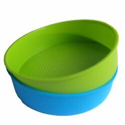 30xsilicone Mould Bakeware 26cm/10inch Round Cake Form Baking Pan Blue And