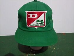 Vtg-1980s Dairyland Seed Usa Made K Brand Products Ag Snapback Trucker Hat