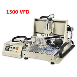 Usb 3axis/4 Axis/5 Axis Cnc 6040z Router Engraver Drilling Cutting Machine 1.5kw