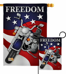 Freedom Garden Flag Star And Stripes Patriotic Decorative Gift Yard House Banner