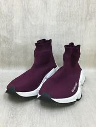 Balenciaga Secondhand Speed Trainer/high-cut Sneakers/38/bordeaux Shoes
