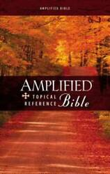 Amplified Topical Reference Bible, Hardcover - Hardcover By Zondervan - Good