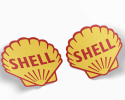 Shell Gasoline Quality Vinyl Decal Stickers Set Of 2 Free Shipping