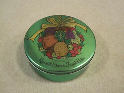 Vintage Russell Stover Fruit Cake Tin Can Empty Can Used Great Shape Tins