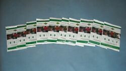 2001 Upper Deck Factory Sealed Golf Hobby Packs Tiger Woods Rc Year-10 Pack Lot
