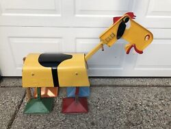 Vintage 1950's Hubley Old Pal The Walking Horse Ride On Metal Toy Riding Rare