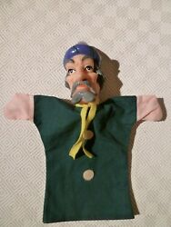 Vintage Rare Hand Puppet - Punch And Judy - Old Man