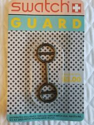 Vintage Swatch Watch Guard Gold Fits The Older Gents/ladies In Blister Pack