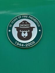 Vintage Smokey Bear 65 Years Of Fire Prevention 1944-2009 Pin Lapel