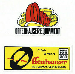 Offenhauser Performance Products Racing Stickers / Decals Die Cut Lot Of 2