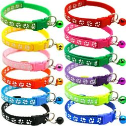 50xcat Collar And Bell With Safety Release Break Away Buckle Suitable And