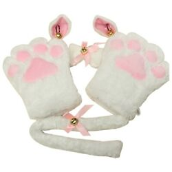 50xkitten Cat Maid Cosplay Roleplay Anime Costume Gloves Paw Ear Tail Tie Party