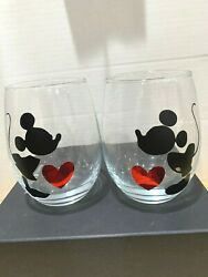 Vintage Disney Mickey Mouse Club Juice Glasses Clear Drinking Glass Cup 5