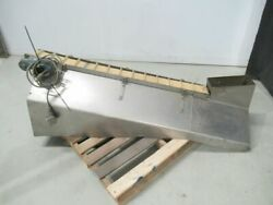 Stainless Steel Cleat Elevator Conveyor For Bottle Or Cap 59 1/2 In Long