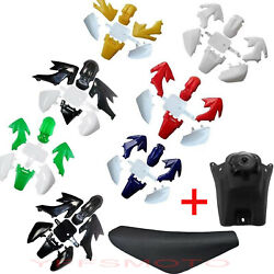 7pcs Plastic And Tank And Tall Seat For Honda Xr50 Crf50 107 125 Ssr Sdg Pit Bike