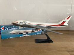 Wardair Canada Airlines B747 Plastic Wooster Snap Fit Model 1980s Vintage Rare