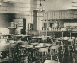 Dearborn Inn Michigan Old English Coffee Shop Interior View Ford Airport Cafe