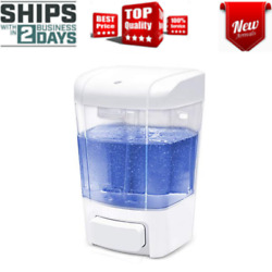 Soap Dispenser Wall Mounted Bathroom Shower Manual Kitchen Home Commercial Hand