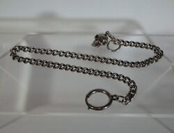Antique Silver Pocket Watch Chain With Memento Mori Skull Fob