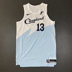 100 Authentic Tristan Thompson Nike Cavaliers Earned City Game Issued Jersey