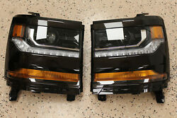 2019 Chevrolet Silverado 1500, Left And Right Head Lamp Assembly 84388620 84388619