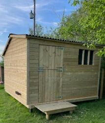 Animal Field Stables 10ftx10ftx6ft Sheep/goat/ Pony/ Cow/ Pig Timber