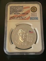 2020 Cameroon 1oz. Donald Trump High Relief-first Releases Ngc Pf70. Last One