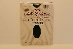 Vintage Hanes Silk Reflections Jet Black Size 2+ Plus Collection Discontinued