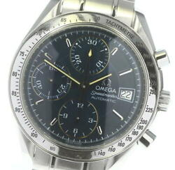 Omega Speedmaster Date 3513.80 Chronograph Blue Dial Automatic Men's_619276