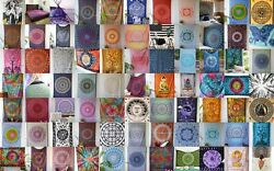 50-pc Wholesale Indian Cotton Twin Bedspreads Bed-cover Wall Hanging Tapestry