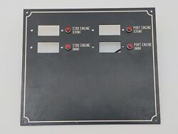 Custom 7x9 Boat Marine 7-3/4 X 9 Circuit Switch Breaker Panel With Cut Out