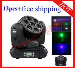 715w Rgbw 4 In 1 Led Beam Moving Head Wash Dj Stage Light 12pcs Free Shipping