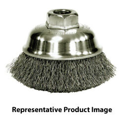 United Abrasives 01402 2-3/4x1/2-13 Carbon Steel Small Cup Brush Crimped 6 Pack