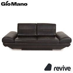 Gio Mano Leather Sofa Black Two Seater Function