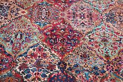 Antique Early Karastan Kirman Multi_color Panel Pattern717 Rug Carpet8and0398x10and0396