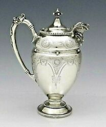 Gorham Coin Silver Covered Pitcher Syrup Or Milk Engraved