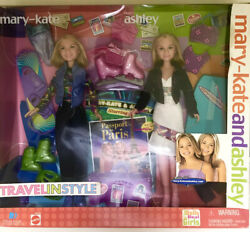 NEW 2001 Mary Kate and Ashley Dolls Travel in Style Passport to Paris $58.99