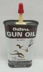 Outers Gun Oil 445a 3oz Full Tin Can Hunting Fishing Flying Duck Nos