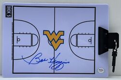 Bob Huggins Signed Auto West Virginia Mountaineers Coaches Clipboard Psa/dna