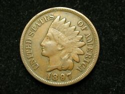 Summer Sale Xf+ 1897 Indian Head Cent Penny W/ Diamonds And Full Liberty 101