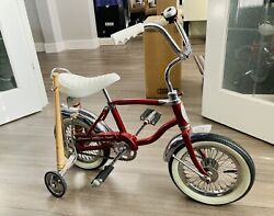Vintage 1970's Authentic Red Schwinn 'lil Tiger' Bicycle - Restored/customized