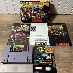 Exc Donkey Kong Country 2 Complete Game Mint Authentic Super Nintendo Snes Cib