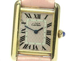 Must Tank Christmas Limited Pink / Silver Dial Quartz Ladies_608476
