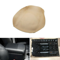 Beige Leather Center Console Armrest Cover For Toyota 4runner 10-18 Tan Adhesive