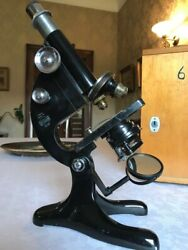 Vintage R And J Beck Model 29 Monocular Microscope Collectable Example Cased